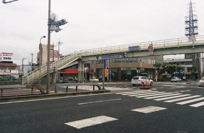和泉府中店への道のり 26号線から