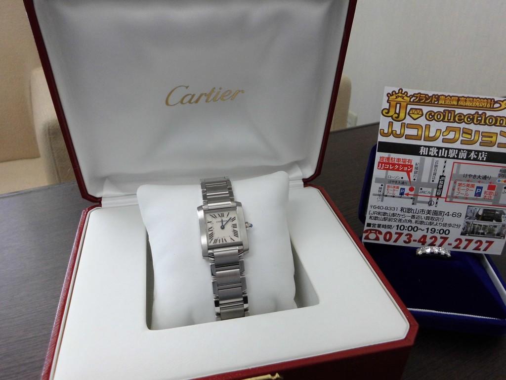 カルティエ タンクフランセーズSM W51008Q3