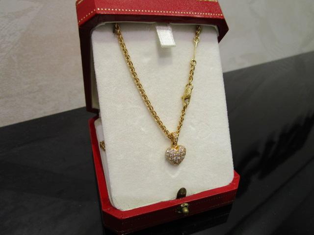 カルティエ ダイヤモンド ペンダント-1
