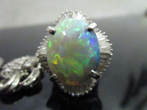 サファイヤ オパール ダイヤ 貴金属 指輪 プラチナ-1 (6)