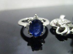 サファイヤ オパール ダイヤ 貴金属 指輪 プラチナ-1 (5)